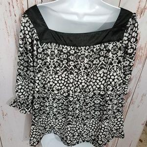 Violet claire black silky floral flowy dress top